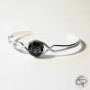 bracelet femme médaillon noir tête de chat géométrique