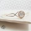 bracelet argenté médaillon rond chat blanc origami bijou femme