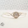 bracelet chat blanc médaillon fin bijou femme romantique