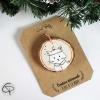 Suspension sapin bois peint mignon chat décoration Noël