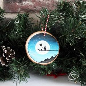boule de Noël en bois personnalisable prénom enfant premier Noël
