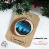 Suspension personnalisable bois forêt nuit étoilée décoration sapin Noël cadeau