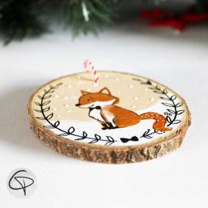 suspension sapin Noël renard personnalisable premier Noël