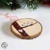 Suspension sapin bois couple oiseaux décoration Noël à personnaliser