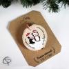 décoration sapin originale pingouins personnalisable prénom premier Noël