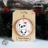 Suspension personnalisée sapin bois peint mignon panda décoration Noël