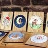 Plaques en bois personnalisables peintes main