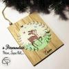 Plaque en bois petit faon peint main personnalisable pour Noël