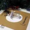 Décoration sapin de Noël fiole message personnalisé souvenir