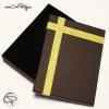 boîte pour parures de bijoux doré et noir