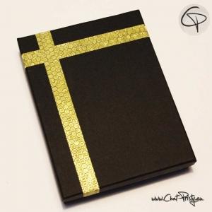 Boîte cadeau noir rectangulaire pour parure de bijoux ruban au choix