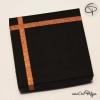 boîte cadeau carrée noir et cuivre pour colliers et boucles