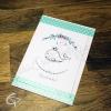 Carte de voeux réalisé main dessin petit baleineau à personnaliser bonne fête