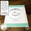 Carte de voeux faite main illustration petit baleineau personnalisable meilleurs voeux