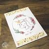 Carte de voeux artisanale illustration bébé licorne à personnaliser