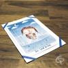 Carte de voeux artisanale personnalisable dessin hibou aviateur