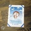 Carte de voeux artisanale message personnalisé illustration hibou aviateur