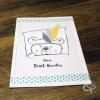 Carte de voeux artisanale dessin ourson mignon personnalisable