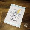 Carte de meilleurs voeux artisanale illustration ours mignon