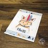 Carte de voeux à personnaliser dessin petit renard