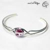 bracelet coquelicots bijou femme dessin fleurs de coquelicot en médaillon