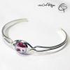 bracelet argenté fleurs coquelicots rouge pastel aquarelle bijou raffiné femme
