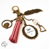 Bijou de sac personnalisé super mamie pompon rose cadeau original grand-mère