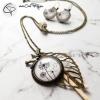 collier sautoir bronze pissenlits médaillon bijou original fait main