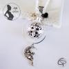 bola de grossesse avec anneau grelot noir petite fée perle cristal