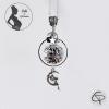 bola de grossesse avec anneau, perle musicale noire fée argentée