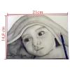Portrait au crayon fusain à partir d'une photo nourisson A5
