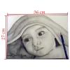 Portrait d'un garçon dessiné au crayon noir et blanc