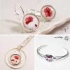 bijoux-coquelicots-femme-parure-boucles-d'oreilles-collier-bracelet