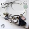 Bracelet mamie d'amour avec prénom petits-enfants cadeau original fête des grand-mères