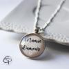Collier mamie d'amour médallon rond cadeau original fête des grands-mères