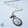 Sautoir mamie d'amour médaillon personnalisé prénom petit-enfant cadeau original grand-mère
