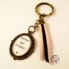 Porte-clé maman bronze colori brins suédine au choix cadeau original fête des mère