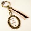 Porte-clef maman bronze couleur brins suédine au choix cadeau fête des mère