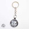 porte-clef photo personnalisé noir et blanc cadeau original