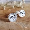 Boutons de manchette mariage homme symbole infini initiales