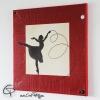 tableau carré peinture femme ballerine thème danse