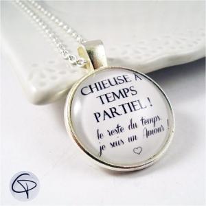 collier avec message particulier chieuse bijou original femme
