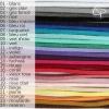 couleur des rubans de suédines au choix