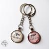 porte-clés rose ou beige cadeaux originaux supers marraines
