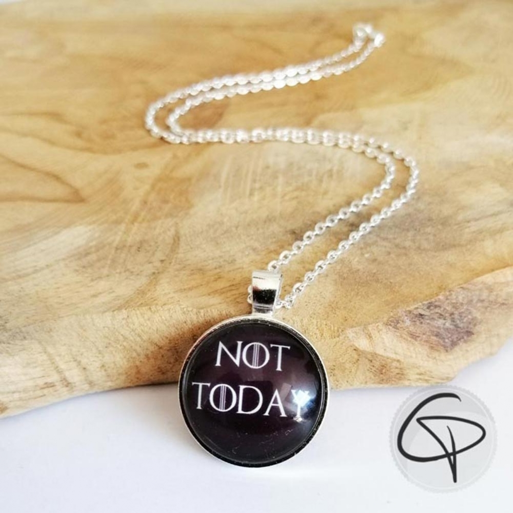 collier not today arya stark bijou fantaisie game of thrones