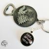 porte-clef ouvre-bouteilles loup game of thrones winter is coming