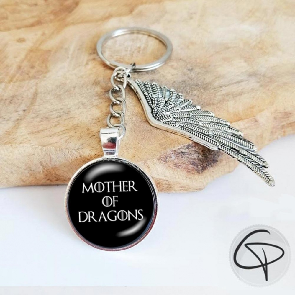 porte-clé game of thrones mother of dragons breloque aile