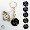 porte-clef game of thrones messages personnalisés loup de winterfell