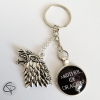 porte-clé loup stark message personnalisé mother of dragons