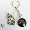 porte-clef valar morghulis direwolf winterfell